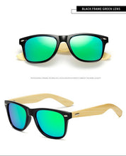 Load image into Gallery viewer, LongKeeper Polarized Wood Bamboo Sunglasses Women Brand Design Mens Real Wooden Arms Sun Glasses Mirrorr Lens Gafas de sol