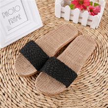 Load image into Gallery viewer, Suihyung Women Flax Slippers Sandals Summer Comfortable Non-slip Ladies Home Flip Flop Cross-tied Casual Indoor Shoes Multicolor Enviro Lighthouse As Show 8 6