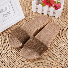 Load image into Gallery viewer, Suihyung Women Flax Slippers Sandals Summer Comfortable Non-slip Ladies Home Flip Flop Cross-tied Casual Indoor Shoes Multicolor Enviro Lighthouse As Show 2 6