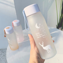 Load image into Gallery viewer, 560ml Water Bottle Leak Proof for Girl Biking Travel Portable Water Bottles Plastic H1177