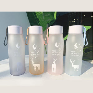 560ml Water Bottle Leak Proof for Girl Biking Travel Portable Water Bottles Plastic H1177