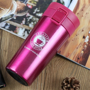 ZOOOBE Thermos Coffee Mug Double Wall Stainless Steel Tumbler Vacuum Flask bottle thermo Tea mug Travel thermos mug Thermocup