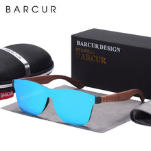 Load image into Gallery viewer, BARCUR Natural Black Walnut Sun glasses for Men Polarized Sunglasses Wood UV400 Oculos de sol masculino feminino