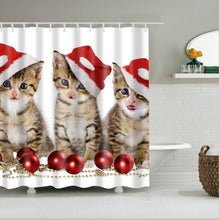 Load image into Gallery viewer, high quality adventures of Unicorn and Cat Printed Shower Curtains Bath Products Bathroom Decor with Hooks Waterproof