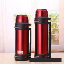 Load image into Gallery viewer, 1.2l/1.5l/2l Travel Thermosflask Thermos Water Coffee Bottle Stainless Steel Coffee Cup Mug Heat Cold Preservation