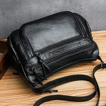 Load image into Gallery viewer, Fashion For Luxury Handbags Women Bags Designer 2020 Vintage Crossbody Pu Leather Black Soft Washed Messenger Flap Bag