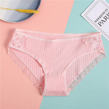 Load image into Gallery viewer, FINETOO Lace Panties Women's Cotton Underwear Soft Women Underpants Comfortable Girls Lingerie Fashion Female Sexy Panties M-XL