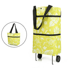 Load image into Gallery viewer, Folding Shopping Pull Cart Trolley Bag With Wheels Foldable Shopping Bags  Reusable Grocery Bags Food Organizer Vegetables Bag