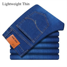 Load image into Gallery viewer, SULEE Brand 2020 New Men's Slim Elastic Jeans Fashion Business Classic Style  Jeans Denim Pants Trousers Male 5 Model