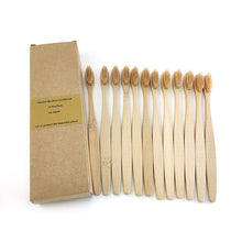 Load image into Gallery viewer, Biodegradable Reusable Bamboo Toothbrushes, Bamboo Toothbrush made from Natural Bamboo Eco-Friendly Bristles 12 pcs