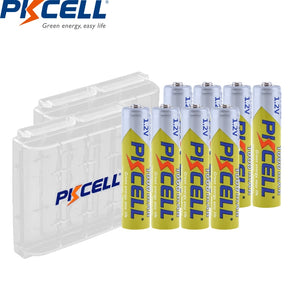 8Pcs PKCELL AAA Battery 1.2V Ni-MH AAA Rechargeable Battery 1000MAH Batteries 3A Bateria Baterias with 2PC AAA/AA Battery Holder