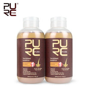 PURC 300ml Thickening hair shampoo for hair growth and hair loss prevents premature thinning hair  for men and women hair care