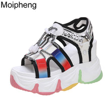 Load image into Gallery viewer, Moipheng Platform Sandals Women Muffin Bottom 2020 Chunky Sandal Super High Heel Rainbow Sole Summer Beach Shoes Sandalias Mujer