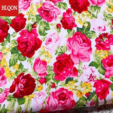 Load image into Gallery viewer, High quality 100% cotton printed sateen rose peony fabric used for Quilting sewing dress women clothing skirt hat by 100x150cm