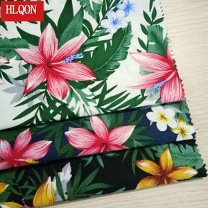 HLQON cotton printed Cashew flowers fabric used for Textile patchwork sewing women  dress  clothing skirt shoe by 100x150cm