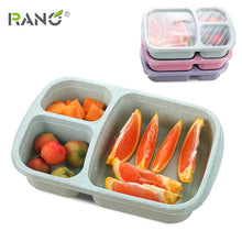 Load image into Gallery viewer, RANO RN-LB04 10pcs/lot Reusable Meal Prep Bento Box Container 3 Compartment with Lids Lunch Box For Microwave