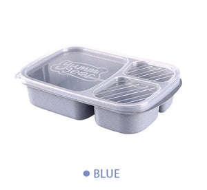 RANO RN-LB04 10pcs/lot Reusable Meal Prep Bento Box Container 3 Compartment with Lids Lunch Box For Microwave