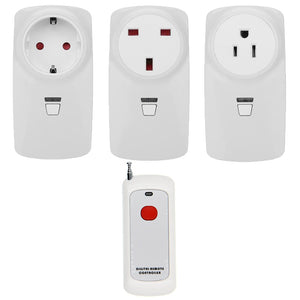 500M Wireless Remote Control Power Outlet Light Switch Smart Plug Socket Room Night Energy Saving EU/US/UK Plug
