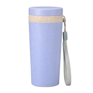 Wheat Straw Water Bottle With Mouth Single-layer Wheat Fragrance Carry-on Cup for Home Office Car Outdoor School