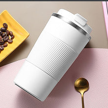 Load image into Gallery viewer, 380ml/510ml Double Stainless Steel Coffee Thermos Mug with Non-slip Case Car Vacuum Flask Travel Insulated Bottle