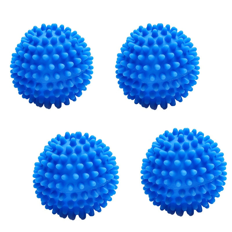 4pcs Reusable Dryer Balls Laundry Washing Drying Ball Fabric Softener Ball Cleaning Tool Washing Accessories