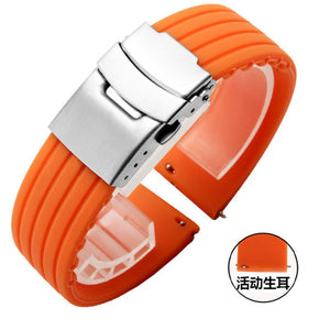 20mm 22mm Quick Release Silicone Watch Bands For Samsung Active 43mm 47mm for Fossil Watch Strap 18mm 24mm Rubber Sport Bands