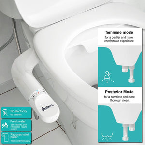 Non Electric Bidet for Toilet Seat Attachment Atalawa 2020 New Design AW5650 Dual Nozzle Toilet Bidet Sprayer Fresh Water Spray