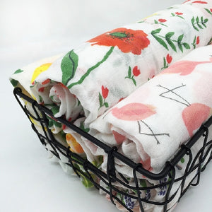 4 Layer Muslin 70%bamboo30%cotton Newborn Swaddle Baby Boy Girl Blanket Bath Gauze Infant Wrap Sleepsack Stroller Cover Play Mat