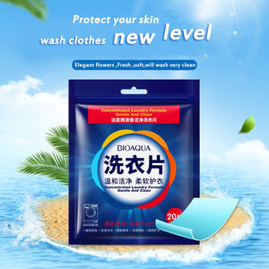 20Pcs/Bag Eco-Friendly Fragrance Cleaning Laundry Tablets Wash Discs Washing Powder Soap Softener Detergent Clothes Bra Washer