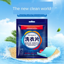 Load image into Gallery viewer, 20Pcs Eco-Friendly Fragrance Cleaning Laundry Tablets Wash Discs Washing Powder Soap Softener Detergent Clothes Bra Washer
