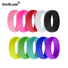 Load image into Gallery viewer, WarBLade 10pcs/set Fashion Silicone Ring Hypoallergenic Crossfit Flexible Rubber Finger Ring Men Women Engagement Wedding Rings
