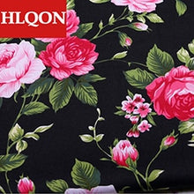 Load image into Gallery viewer, High quality 100% cotton printed sateen flower fabric used for Quilting sewing dress women clothing skirt shoe by 100x150cm