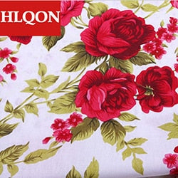 High quality 100% cotton printed sateen flower fabric used for Quilting sewing dress women clothing skirt shoe by 100x150cm