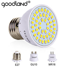 Load image into Gallery viewer, E27 LED Bulb GU10 LED Lamp 220V SMD 2835 MR16 Spotlight 48 60 80LEDs Warm White Cold White Lights for Home Decoration Ampoule