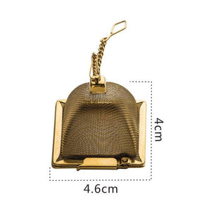 1PC Teapot Shape Stainless Steel Fine Mesh Tea Strainer Reusable Loose Leaf Infuser Spice Filter , Europe SGS Test Pass
