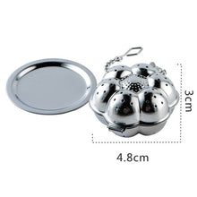 Load image into Gallery viewer, 1PC Teapot Shape Stainless Steel Fine Mesh Tea Strainer Reusable Loose Leaf Infuser Spice Filter , Europe SGS Test Pass