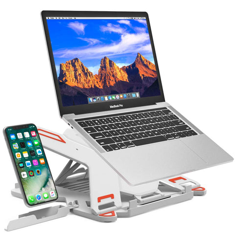 "Adjustable Laptop Stand-Fits Laptops 10"" to 15.6""-White"