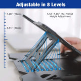 "Adjustable Laptop Stand-Fits Laptops 10"" to 15.6""-Black"