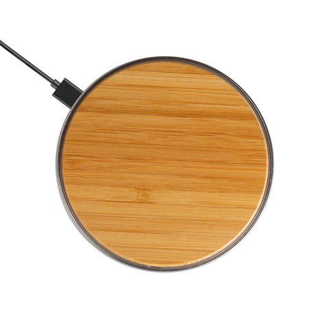 Wireless Phone Charger Pad-Bamboo Color