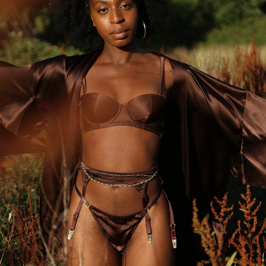 Asase Ya Chocolate Silk Suspender_campaign_model 1_Ihuoma