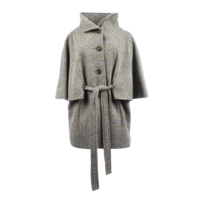 Harris Tweed Cape Jacket