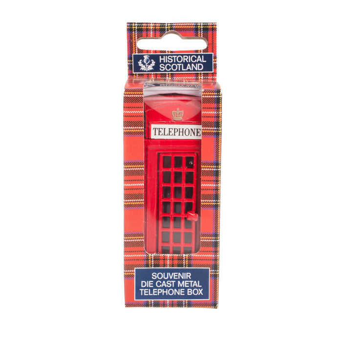 Classic Red Metal Souvenir Telephone Box