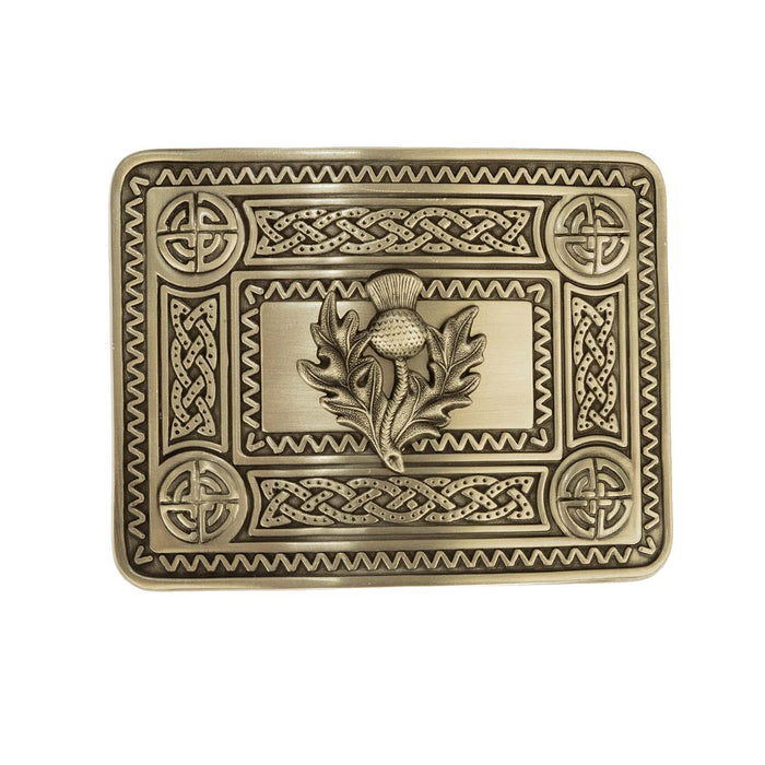 Antique Thistle Knot Buckle