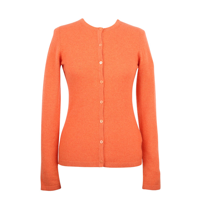 Ladies Crew Neck Cardigan Mandarin