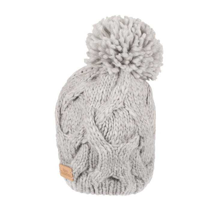 Ladies Twist Cable Pom Pom Hat