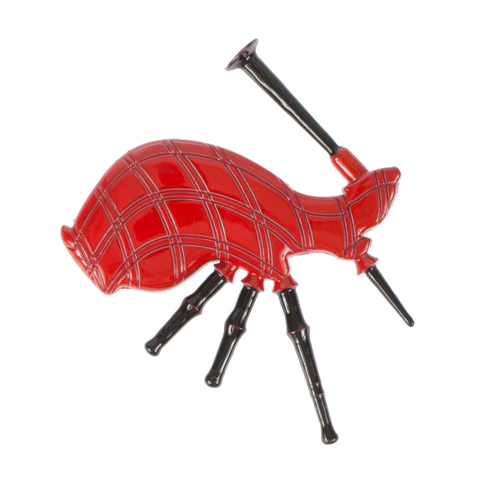 Bagpipes Red Metal Magnet