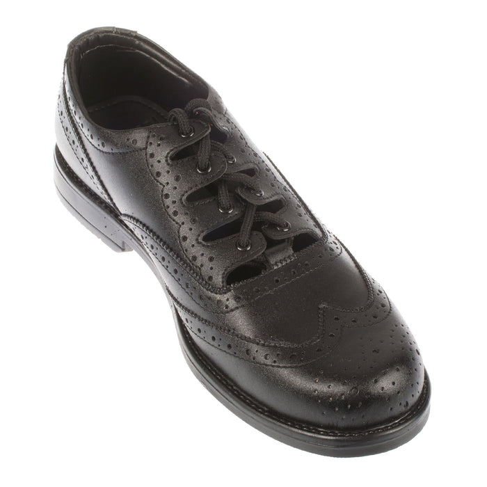 Gents Man Made Sole Ghillie Brogues Black