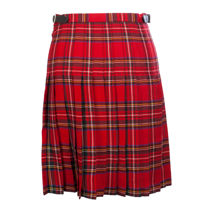 Ladies Knee Length Tartan Kilted Skirt Stewart Royal