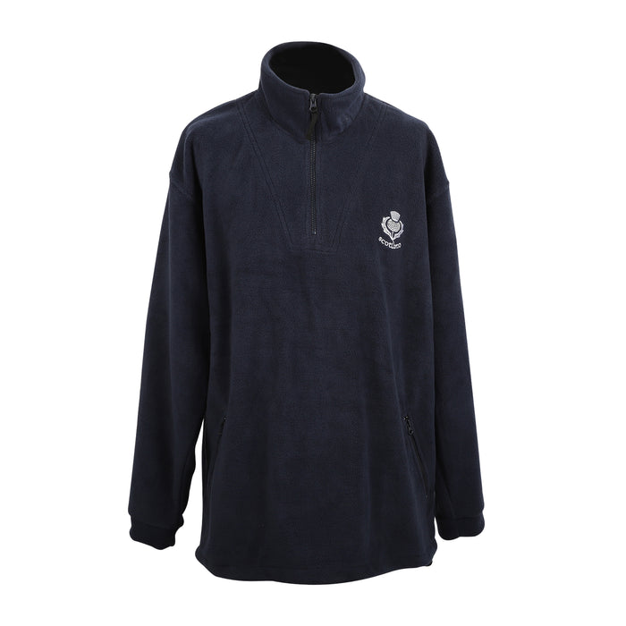 Scotland White Thistle Fleece Half Zip