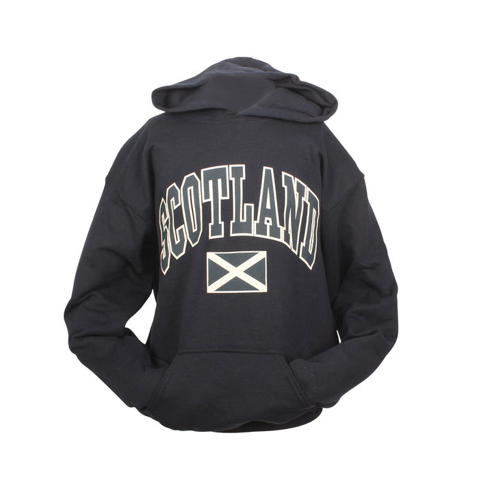 Kids Scotland Harvard Print Hooded Top Navy
